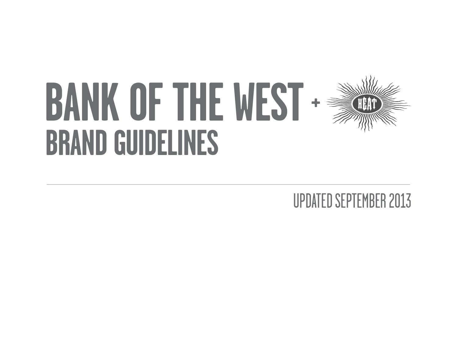 Bank of the West Brand Guidelines by Cheryln Quan - issuu