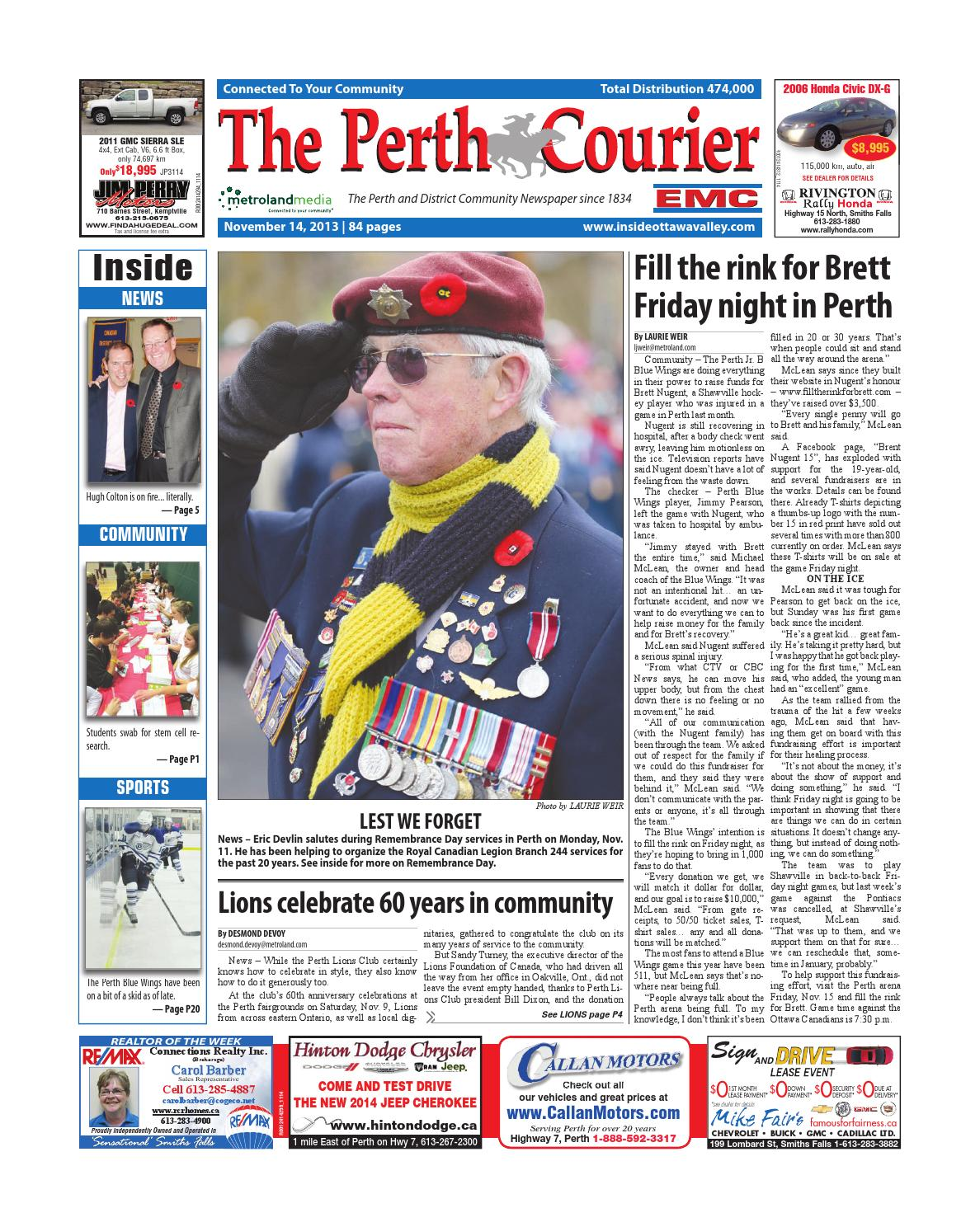 Perth111413 by metroland east the perth courier issuu fandeluxe Gallery