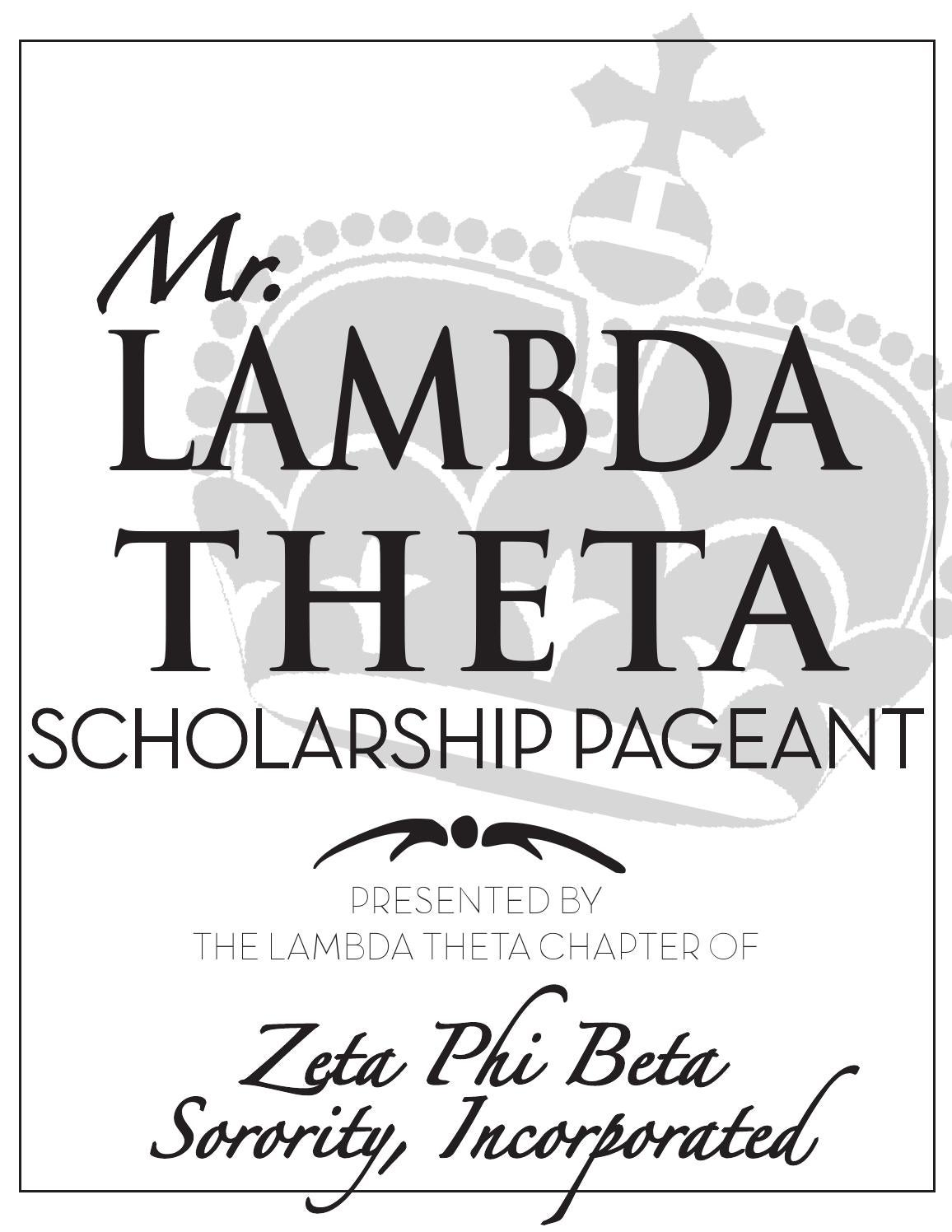 Mr. Lambda Theta Scholarship Pageant Book by Eryka Wallace ...
