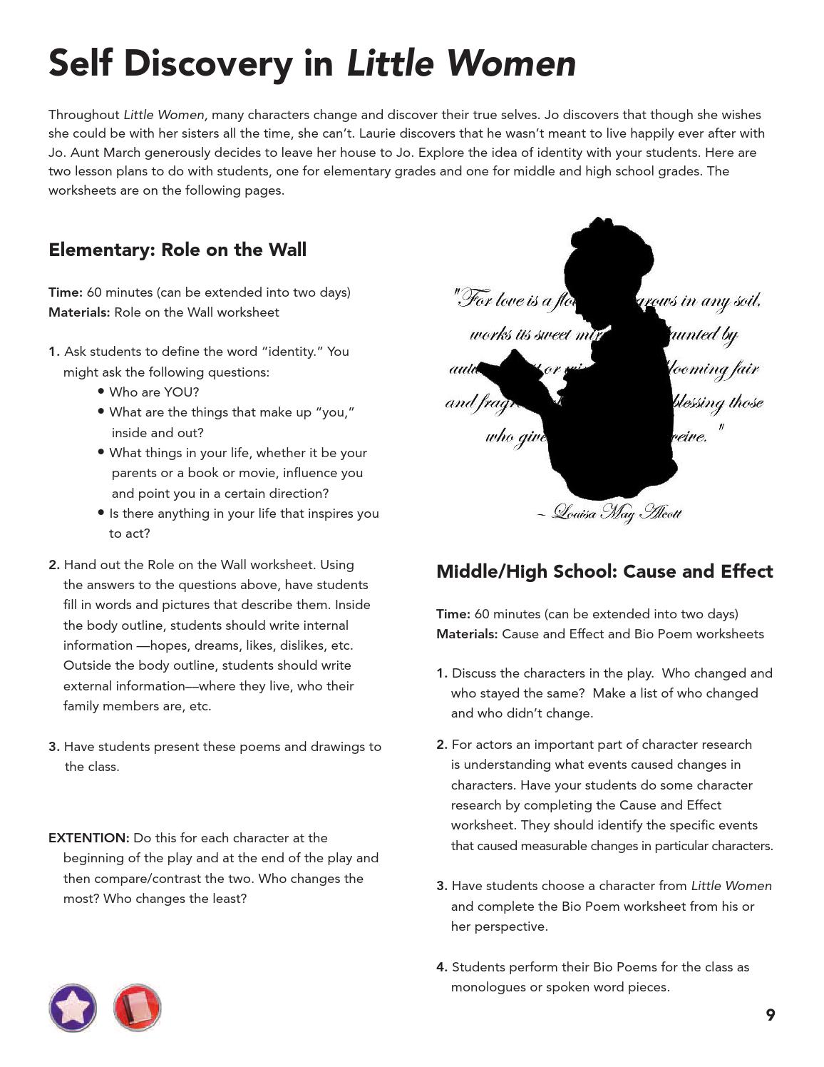 Little Women Study Guide by TheatreWorks Education issuu – Bio Poem Worksheet
