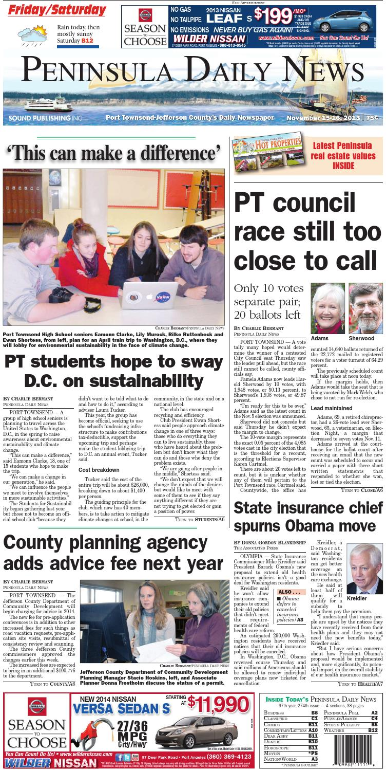 PDN20131115J by Peninsula Daily News & Sequim Gazette - issuu