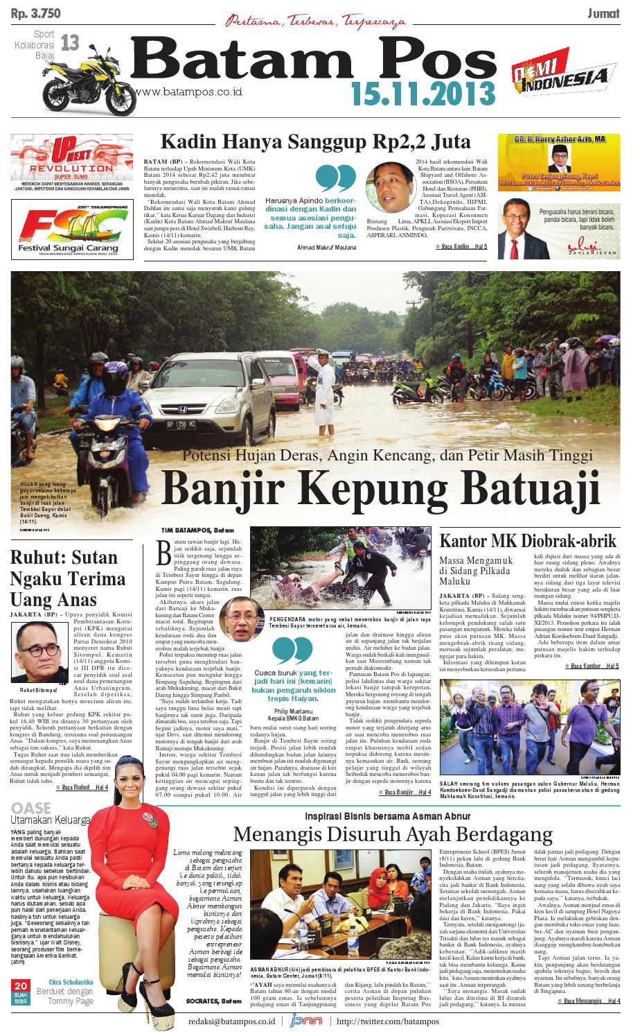 15 November 2013 by Batampos Newspaper - issuu 481edd6d82