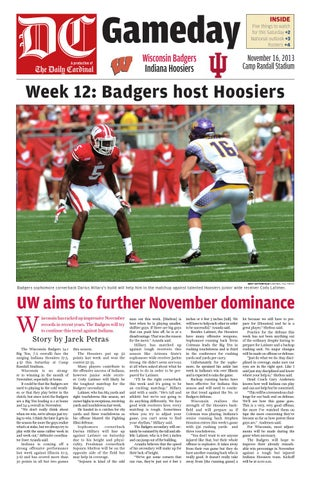 4e2cc7711 Sign up Log in. Page 1. Gameday A production of. Wisconsin Badgers Indiana  Hoosiers