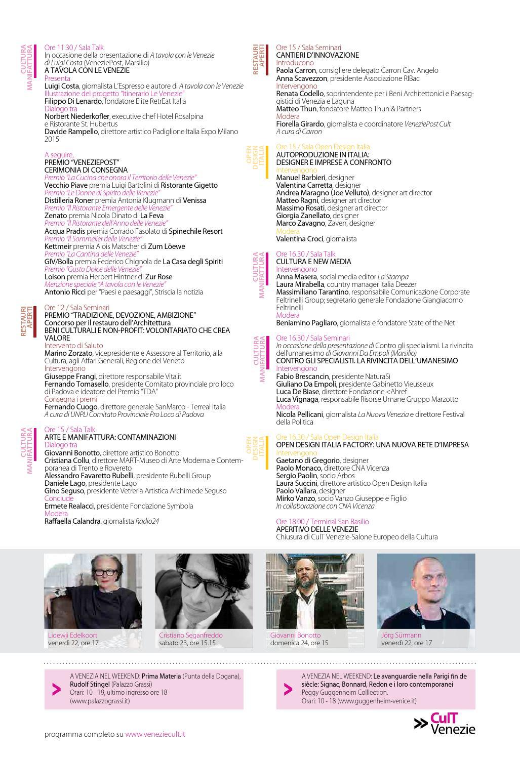 CulT Venezie 2013 - Programma ufficiale by Antonio Maconi