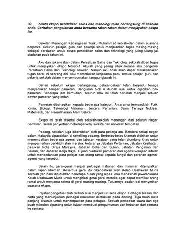 Contoh Karangan Pengalaman Pt3 Contoh Soal2