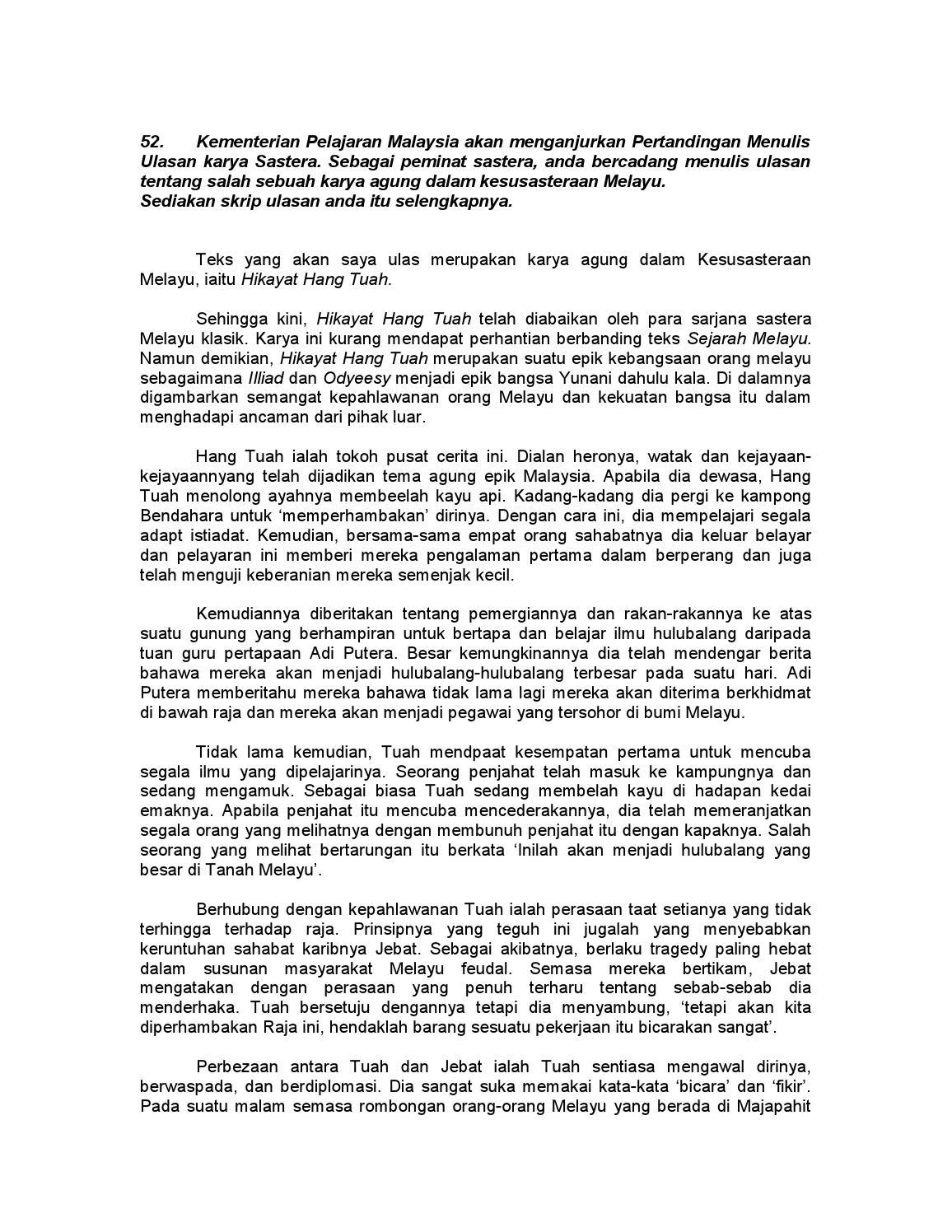 100 Karangan Contoh Pmr Dan Spm By Zaiton Zaba Issuu