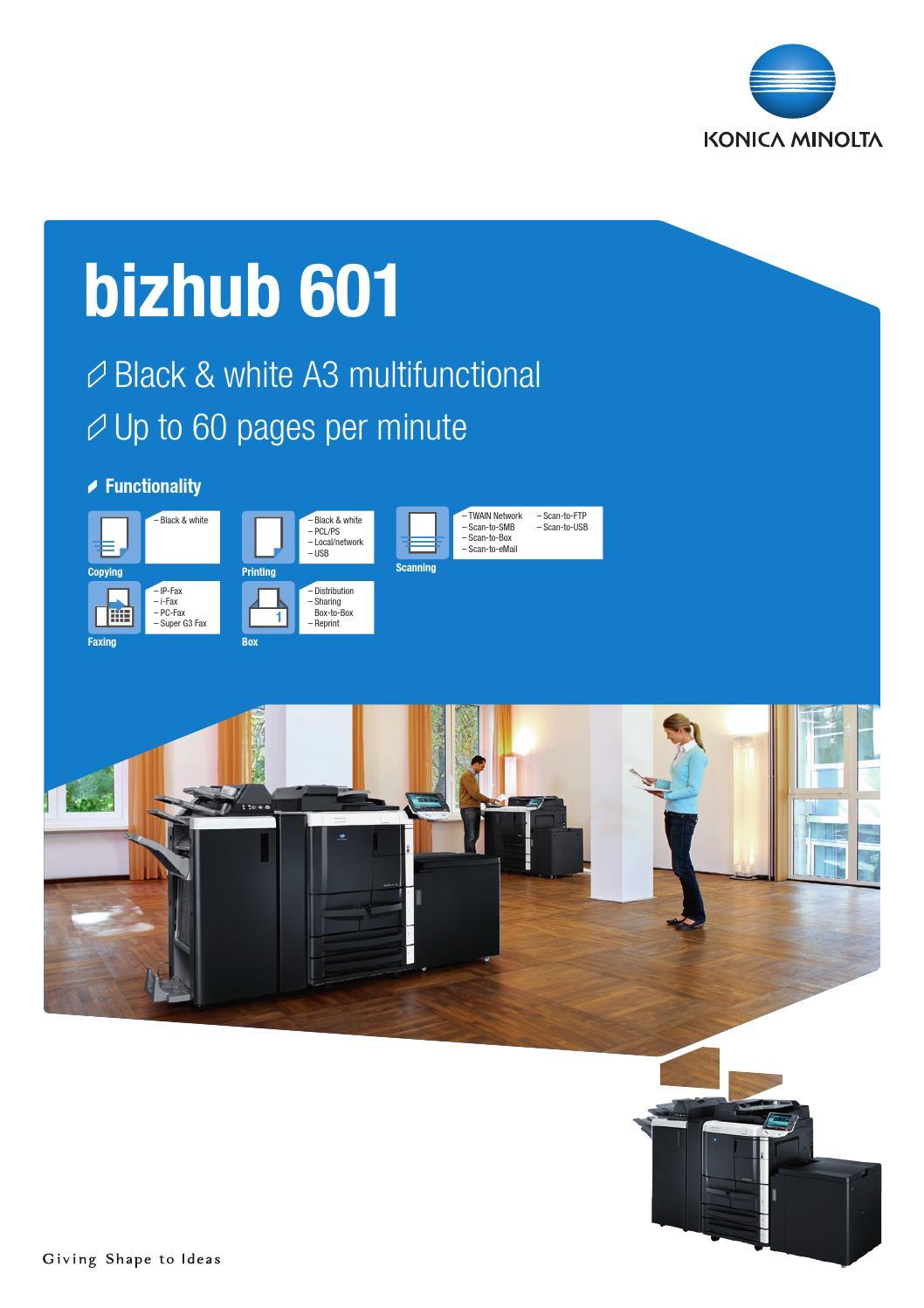 Bizhub 601 datasheet by Konica Minolta Business Solutions