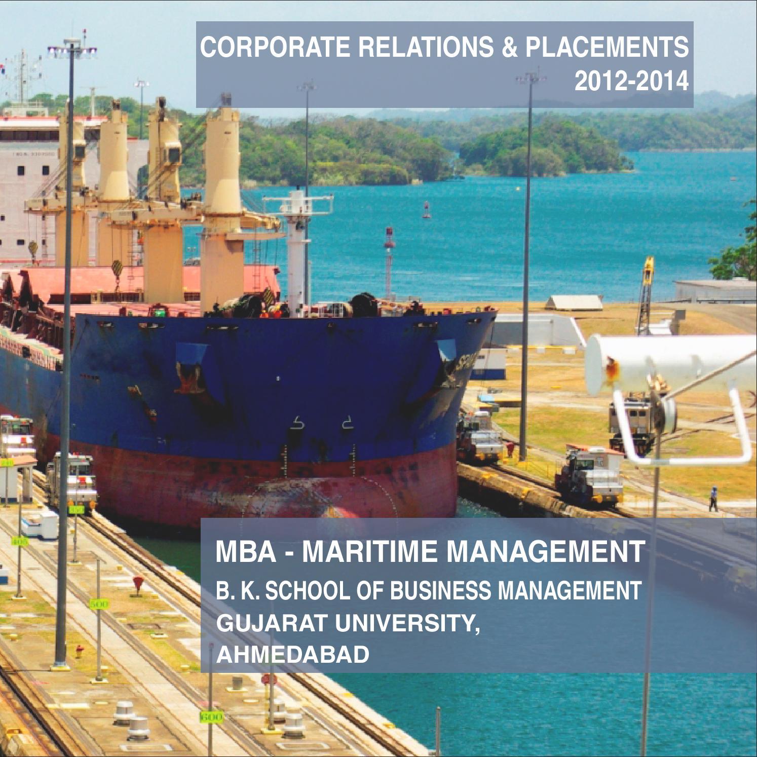 gujarat maritime board work