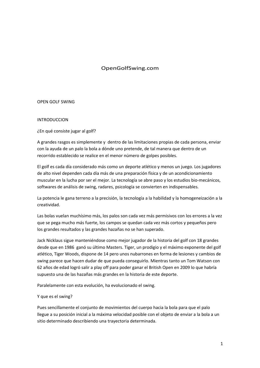 Open golf swing (autoguardado) by Marcos Sobrón Scott - issuu