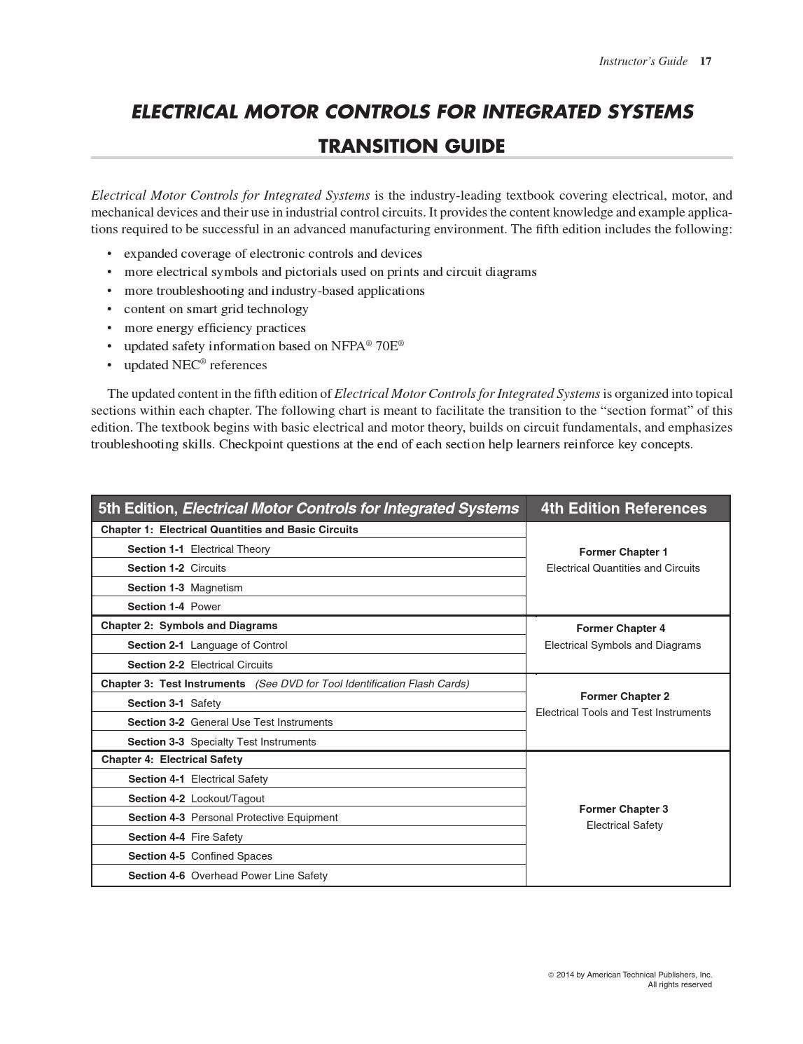 Emcrg transitionguide by american technical publishers issuu for Electrical motor controls for integrated systems fifth edition