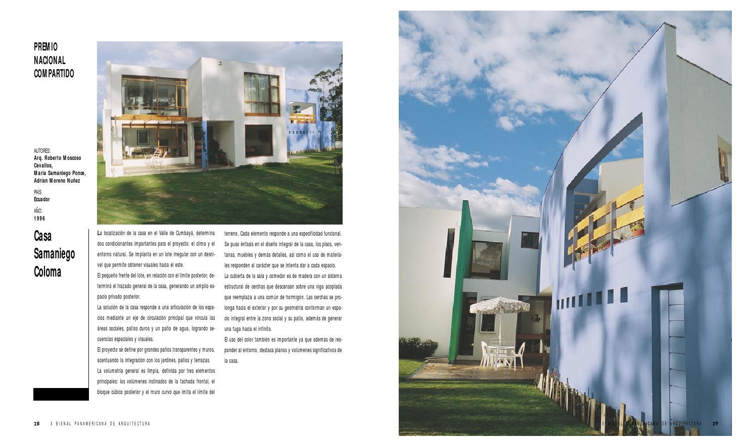 X Bienal Panamericana De Arquitectura De Quito By  # Muebles Cevallos