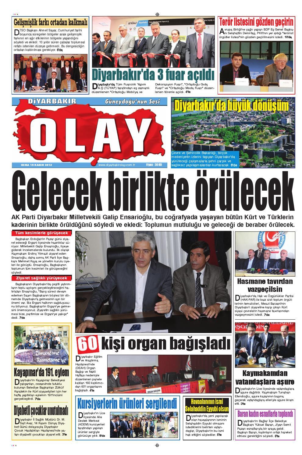 15 11 013 Gazete Sayfalari By Diyarbakir Olaygazetesi Issuu