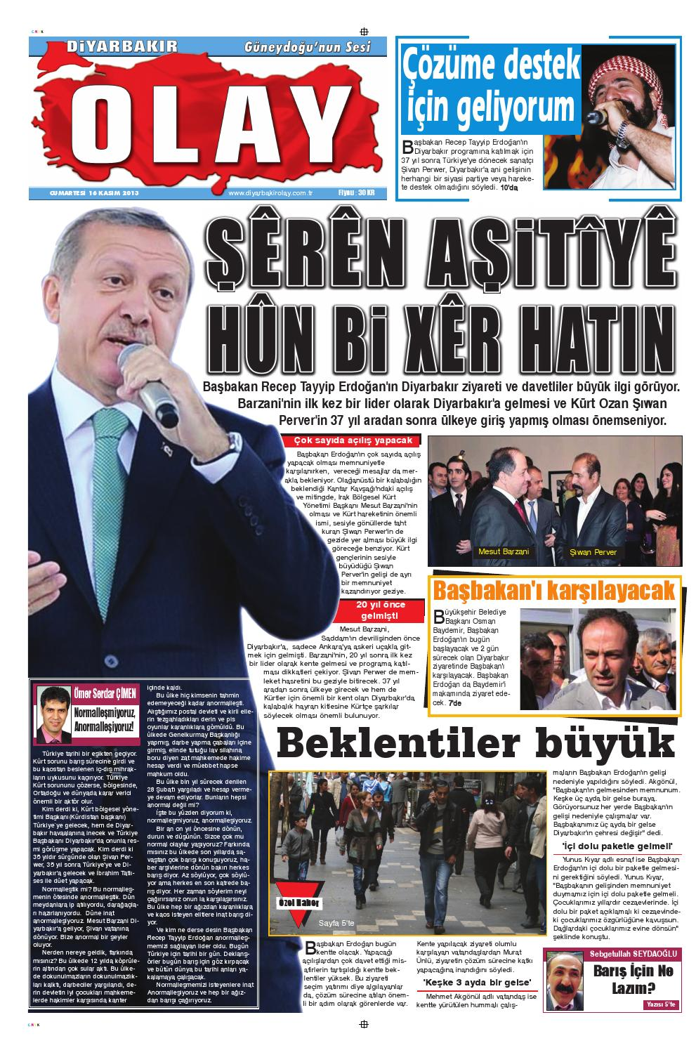 16 11 2013 Gazete Sayfalari By Diyarbakir Olaygazetesi Issuu