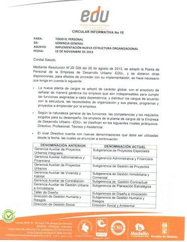 Circular Informativa 15 By Edu Medellin Issuu