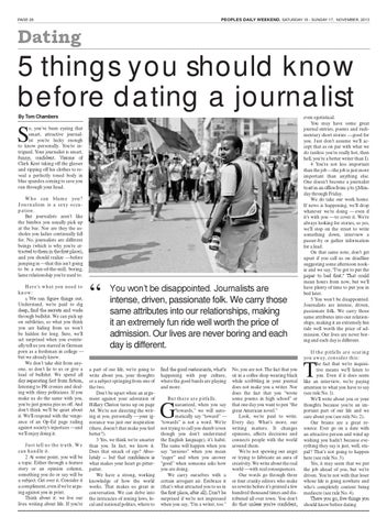 5 things to know about dating a journalist