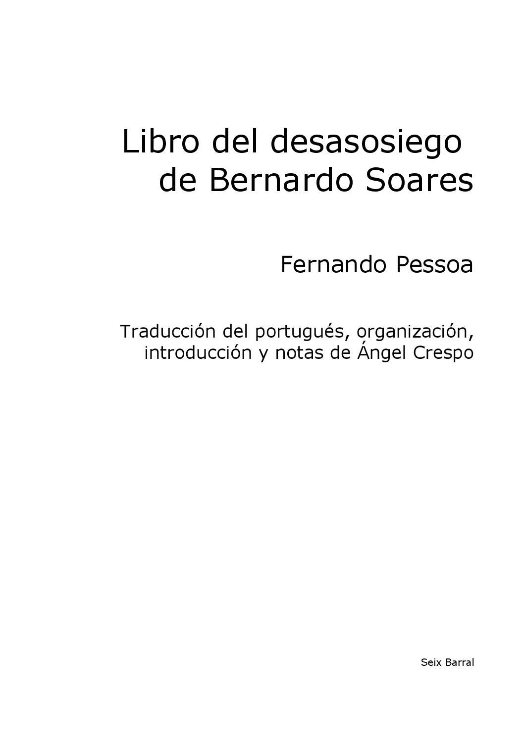 Pessoa, fernando libro del desasosiego by ArturoBelano - issuu