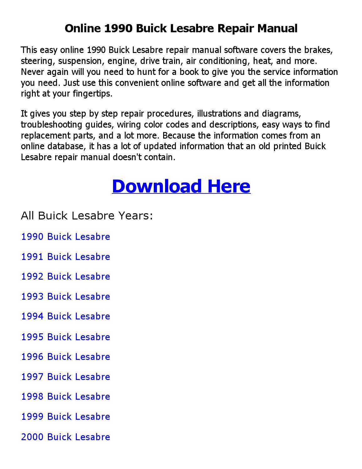 Page on 1999 Buick Lesabre Service Manual