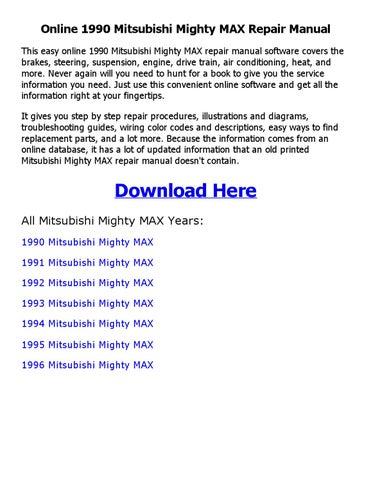 mitsubishi service manuals online