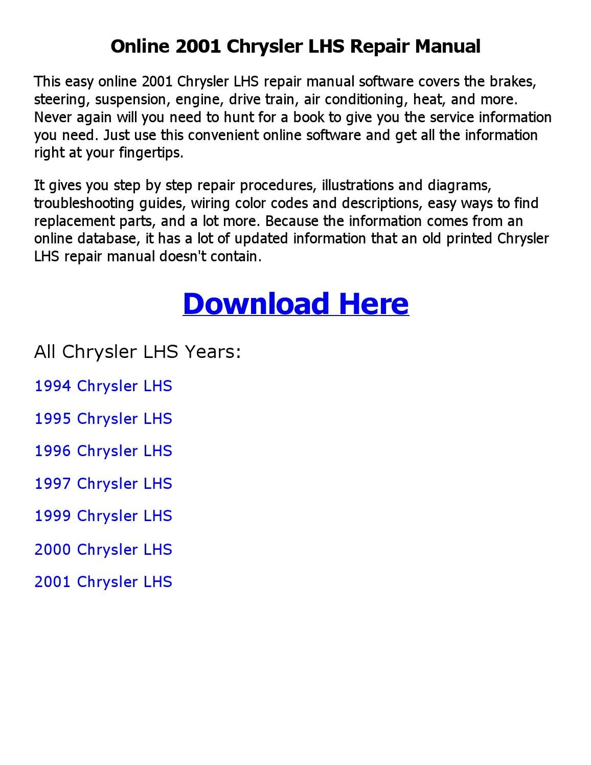 95 Chrysler Lh Wiring Schematic
