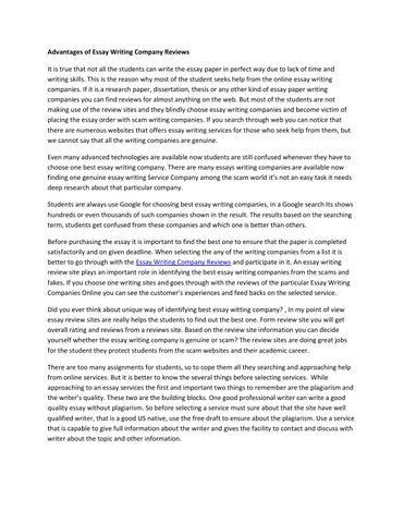 Advantages Of Essay Writing Company Reviews By Jessey Broad  Issuu Advantages Of Essay Writing Company Reviews