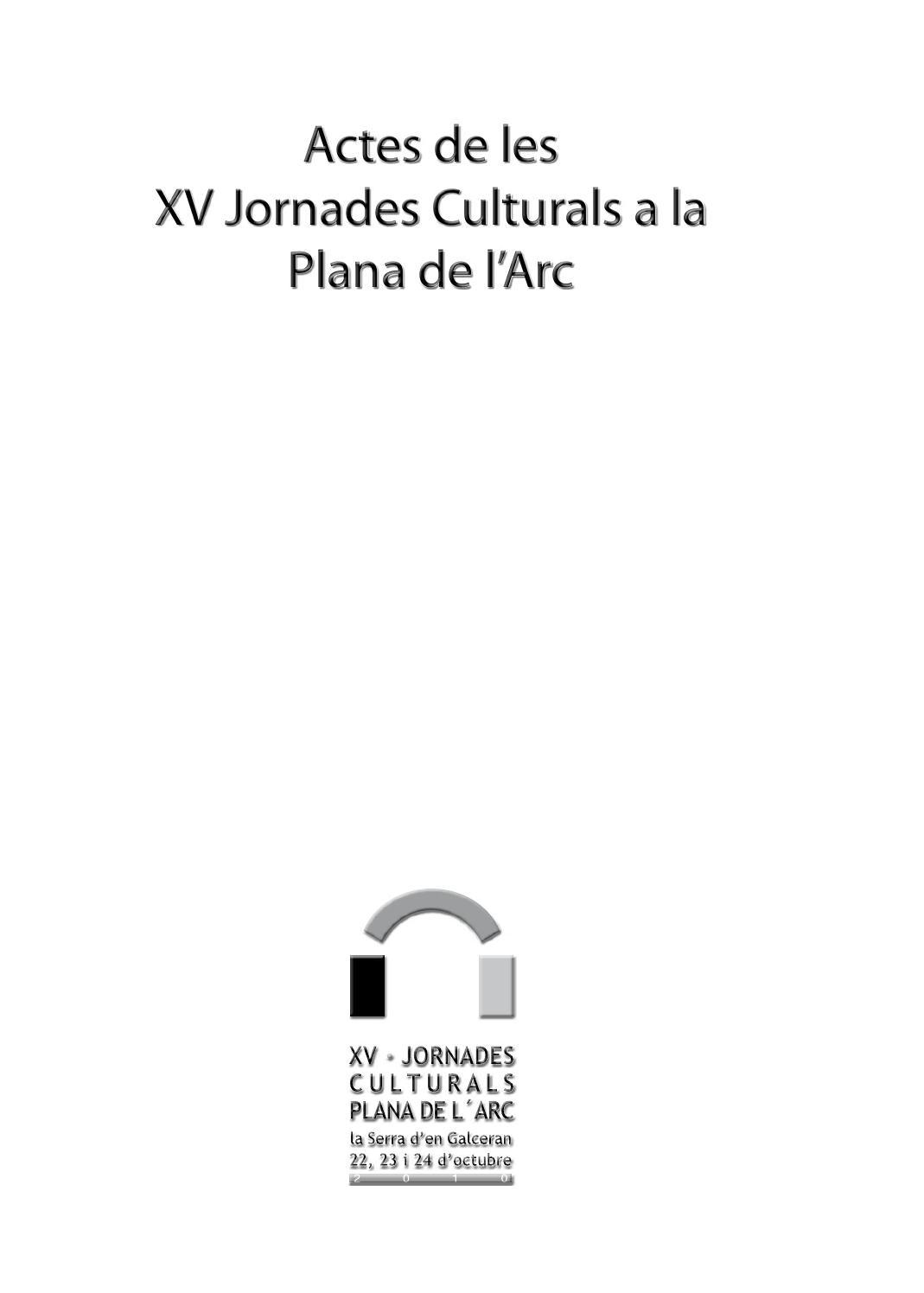 Actes De Les Xv Jornades Culturals A La Plana De L Arc By  # Muebles Pitarch Borriol