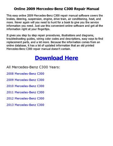2010 mercedes c300 repair manual