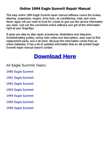 1994 eagle summit repair manual online by sadi1sdi1 issuu rh issuu com