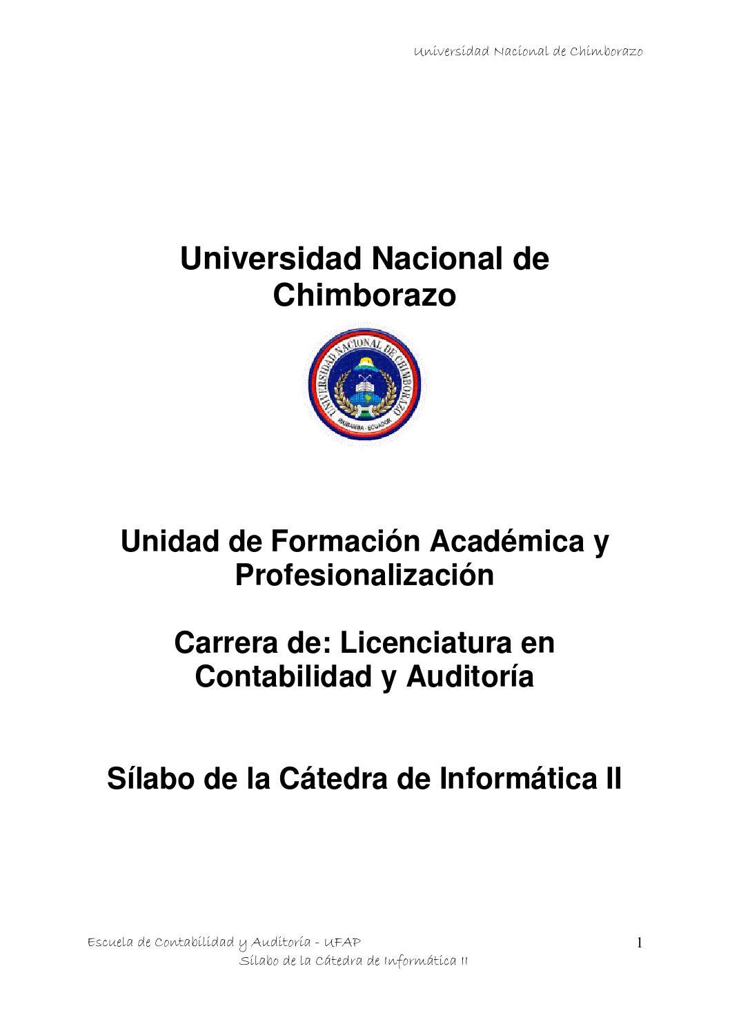 Silabo contabilidad informática ii by Juan Carlos - issuu