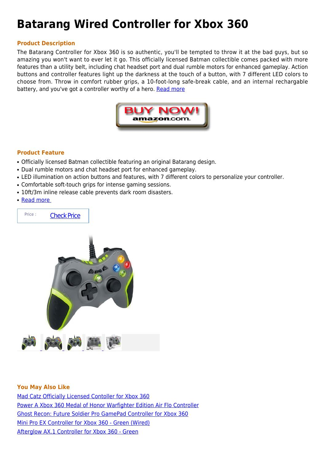 Batarang wired controller for xbox 360 by JMmandy wilsoncrew
