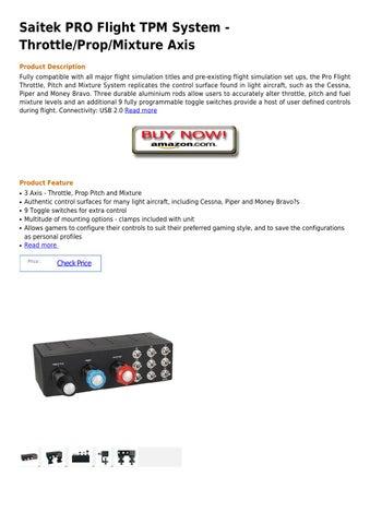 Saitek pro flight tpm system throttle prop mixture axis by