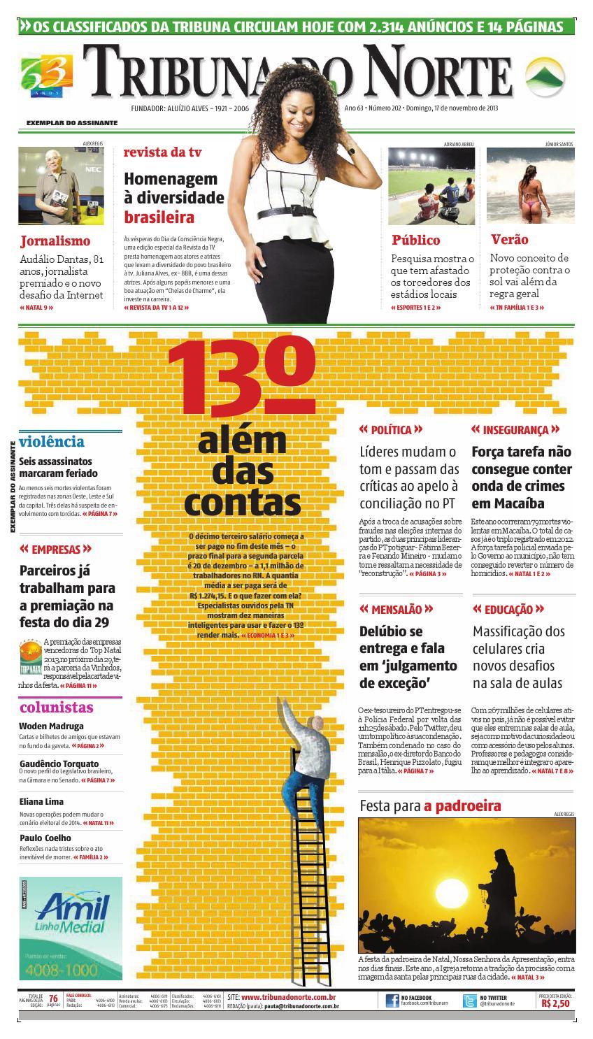 Tribuna do Norte - 17 11 2013 by Empresa Jornalística Tribuna do Norte Ltda  - issuu 76071bd0c8