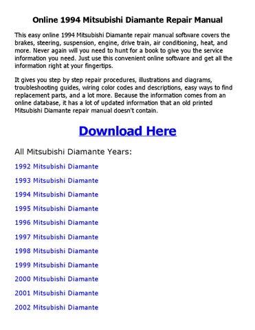 1994 mitsubishi diamante repair manual online