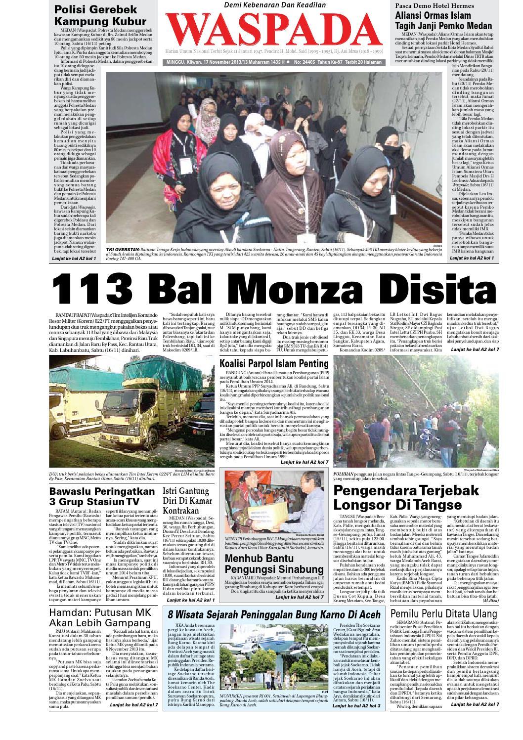 Waspada Minggu 6 September 2015 By Harian Issuu Camilan Busa Kepiting Indahamp039s Fresh Ui 17 Nopember 2013