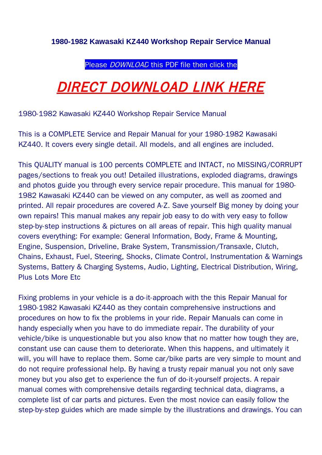 Kawasaki Kz440 Manual pdf
