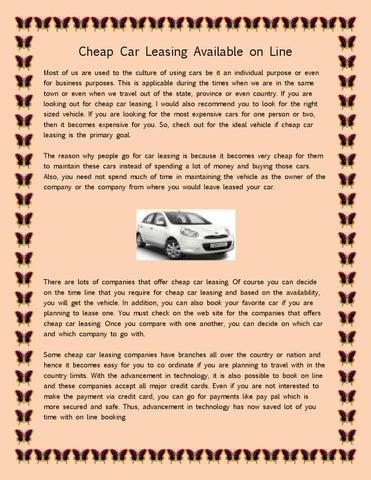 compare car leasing