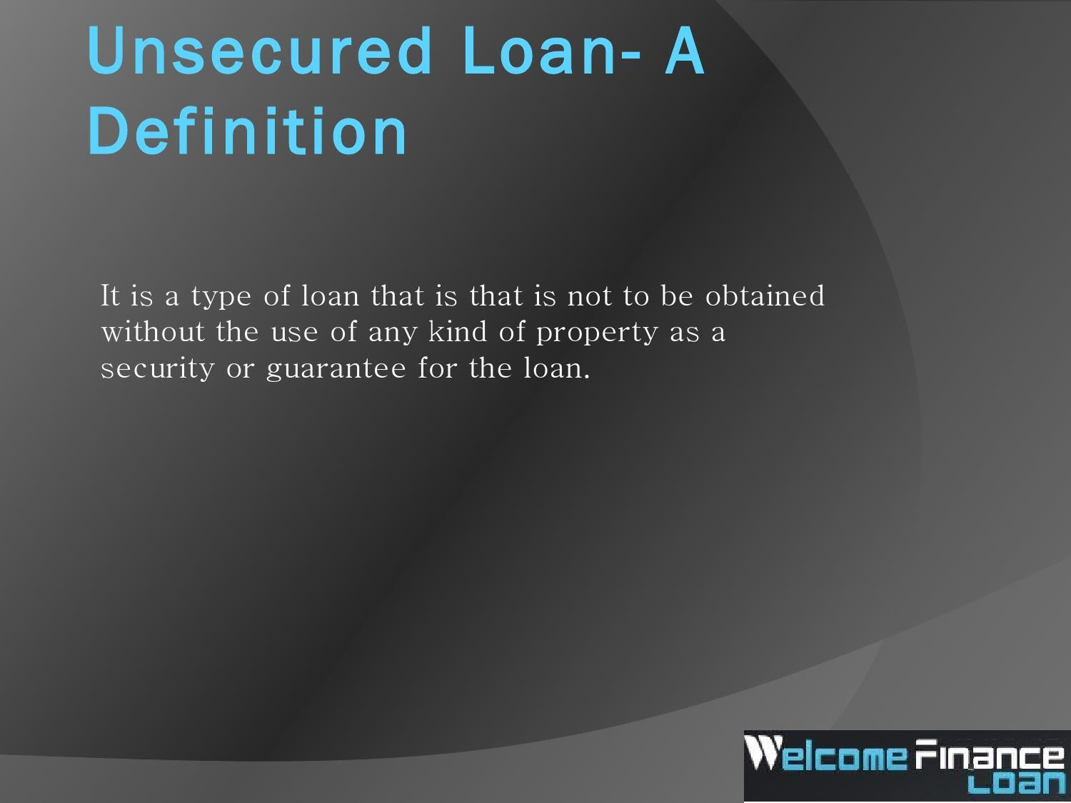 unsecured loan lenders a definition by albertfrancis - issuu