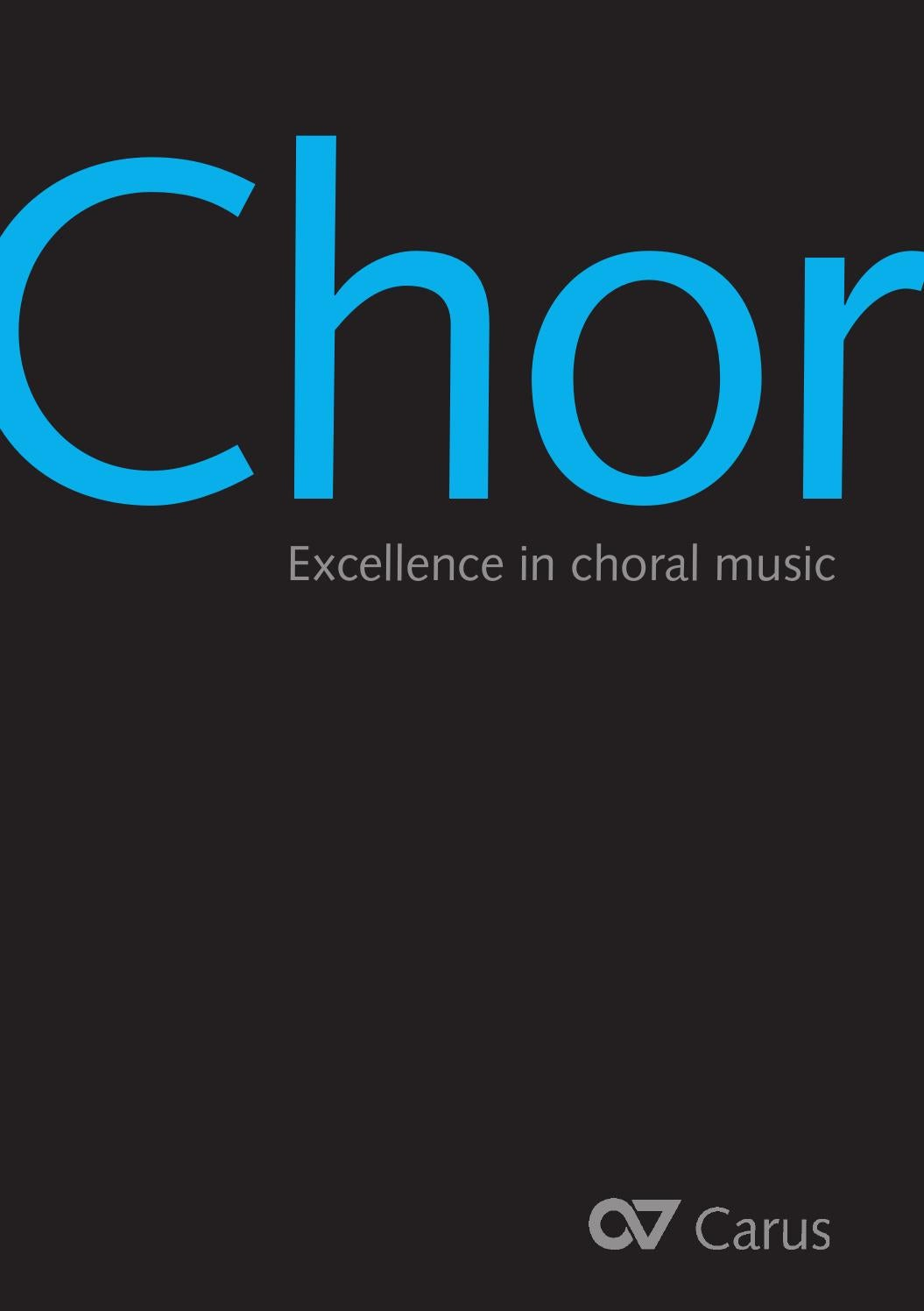 Carus Chormusikkatalog Excellence In Choral Music By Carus
