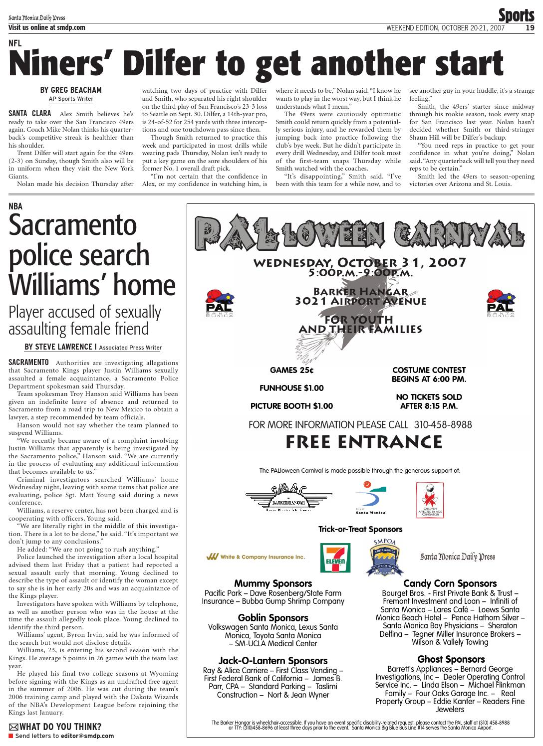Santa Monica Daily Press, October 20, 2007 by Santa Monica Daily