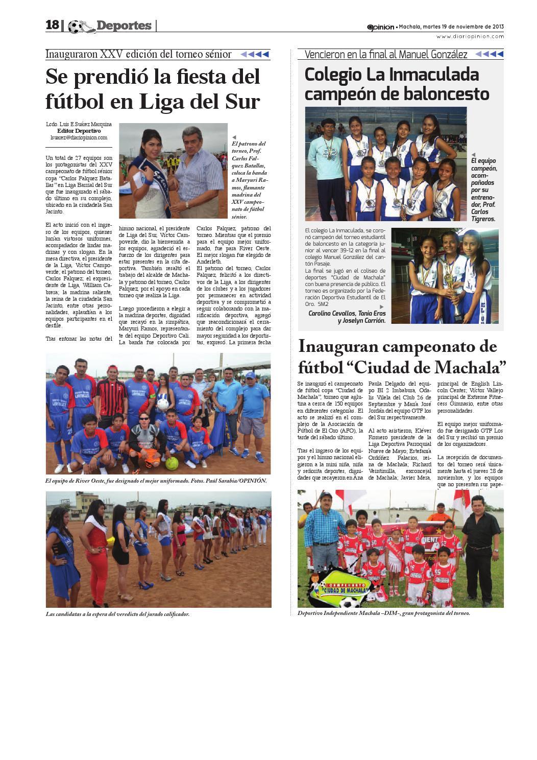 Impreso 19 11 13 By Diario Opinion Issuu