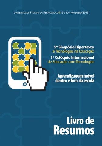 aa041053d0633 Livro de Resumos do 5º Simpósio Hipertexto by Simpósio Hipertexto ...