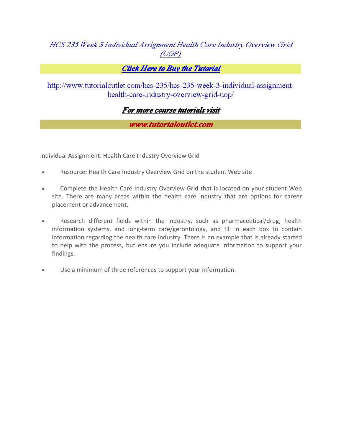 Health Care Services Worksheet HCS/235