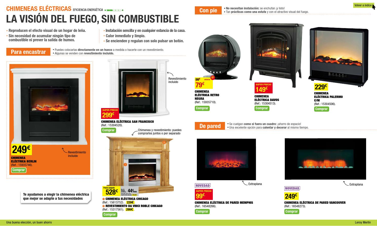 Calefaccion leroy merlin catalogo 2013 2014 by issuu - Chimeneas leroy merlin ...