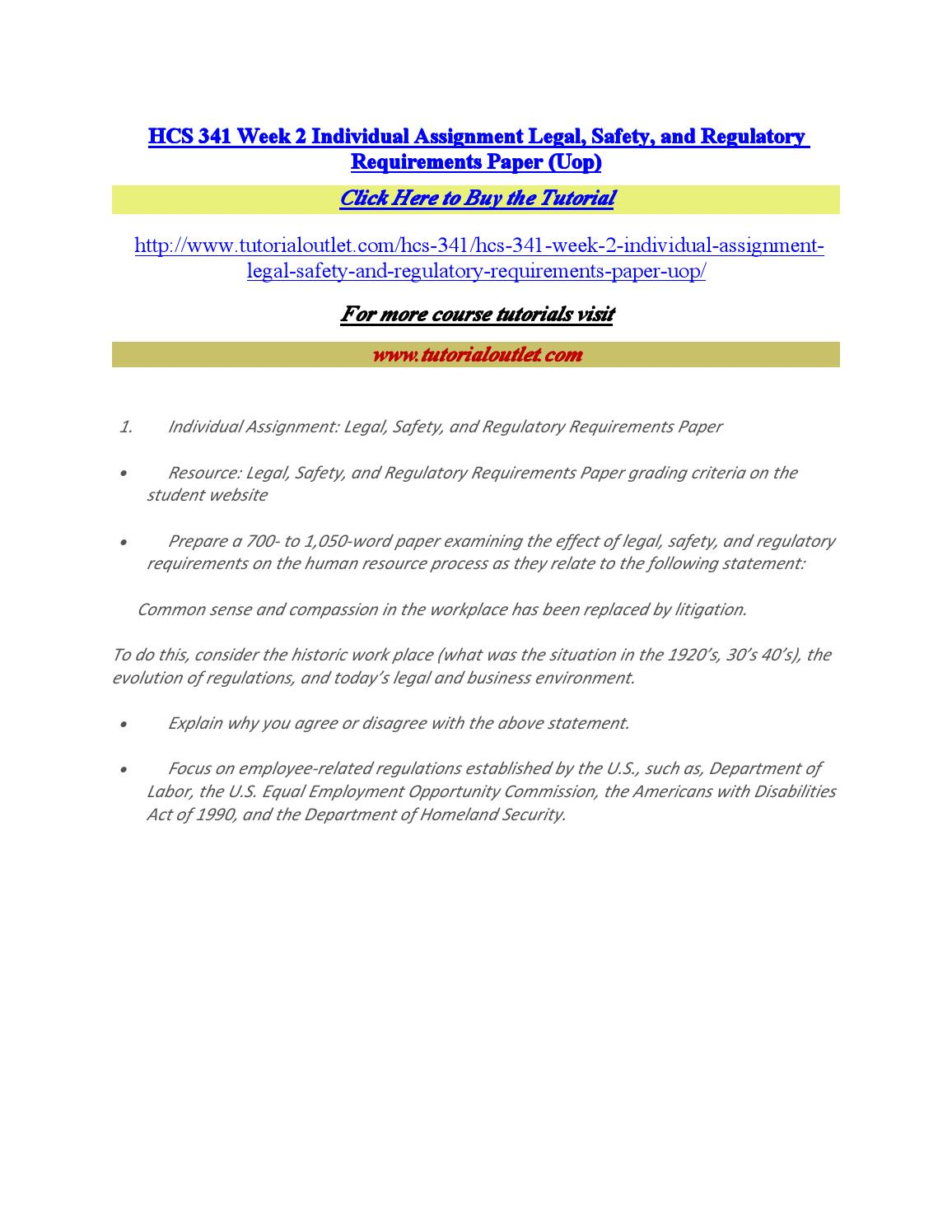legal safety and regulatory requirements essay Transcript of legal, safety, and regulatory requirements  and regulatory requirements  gives participant the right to sue for benefits and breaches of legal.