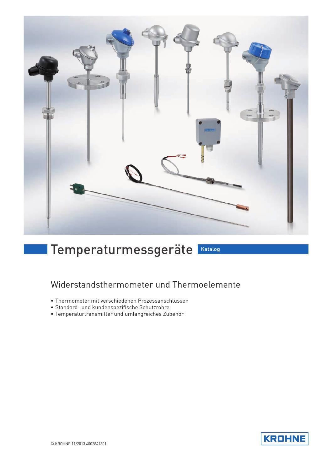 KROHNE Temperaturmessgeräte Katalog by KROHNE - issuu