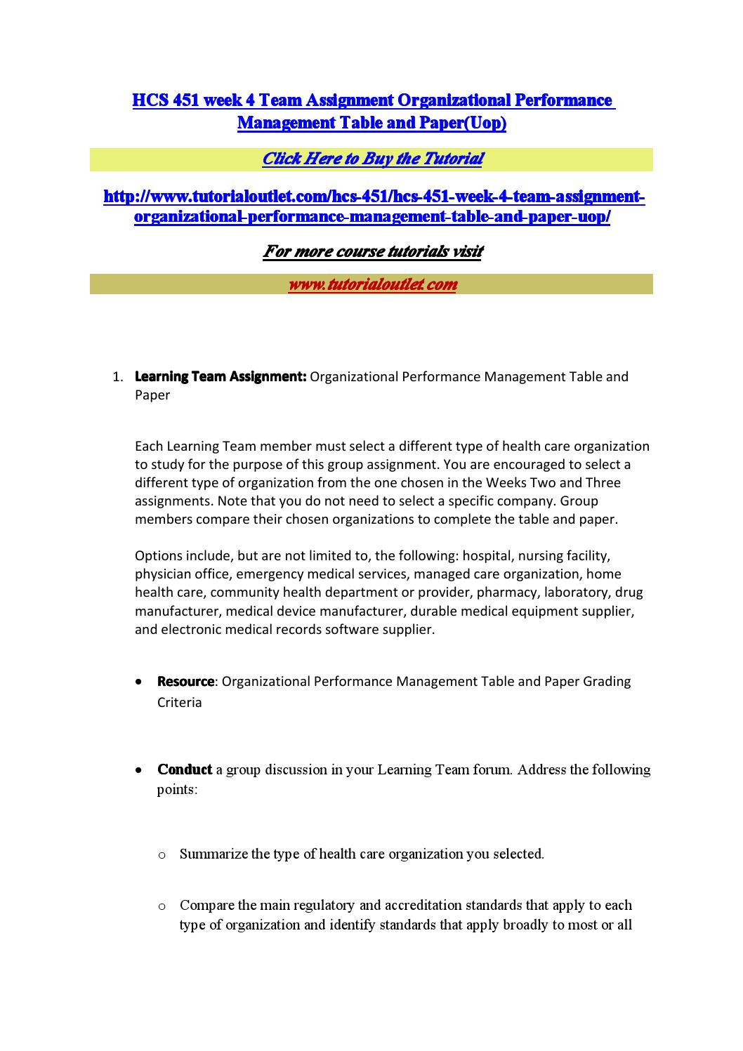 team a organizational performance management essay Team a organizational performance management (draft version) 451 week 4 organizational performance management table and paper learning team organizational p.