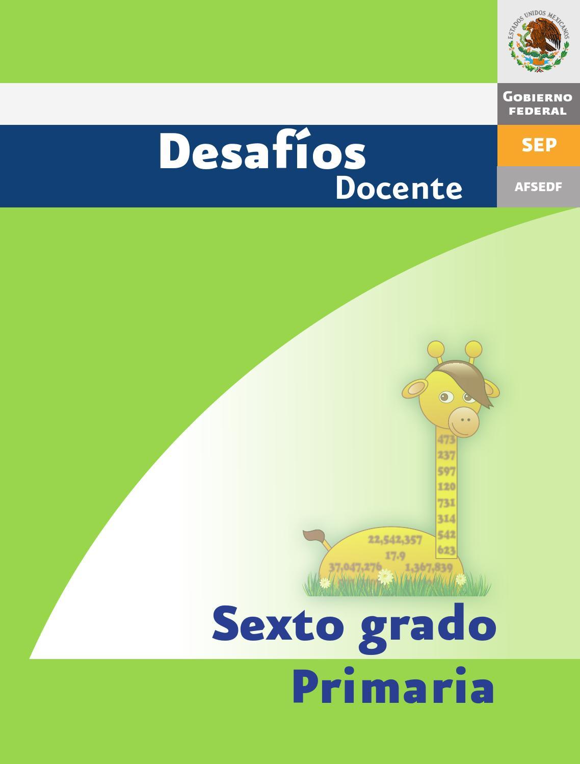 Desafios matematicos docente 6º sexto grado primaria by GINES CIUDAD ...