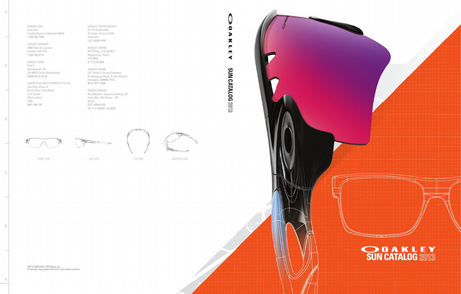 5a8e7564cd Oakley Sunglasses 2013 by Moto Marketing - issuu