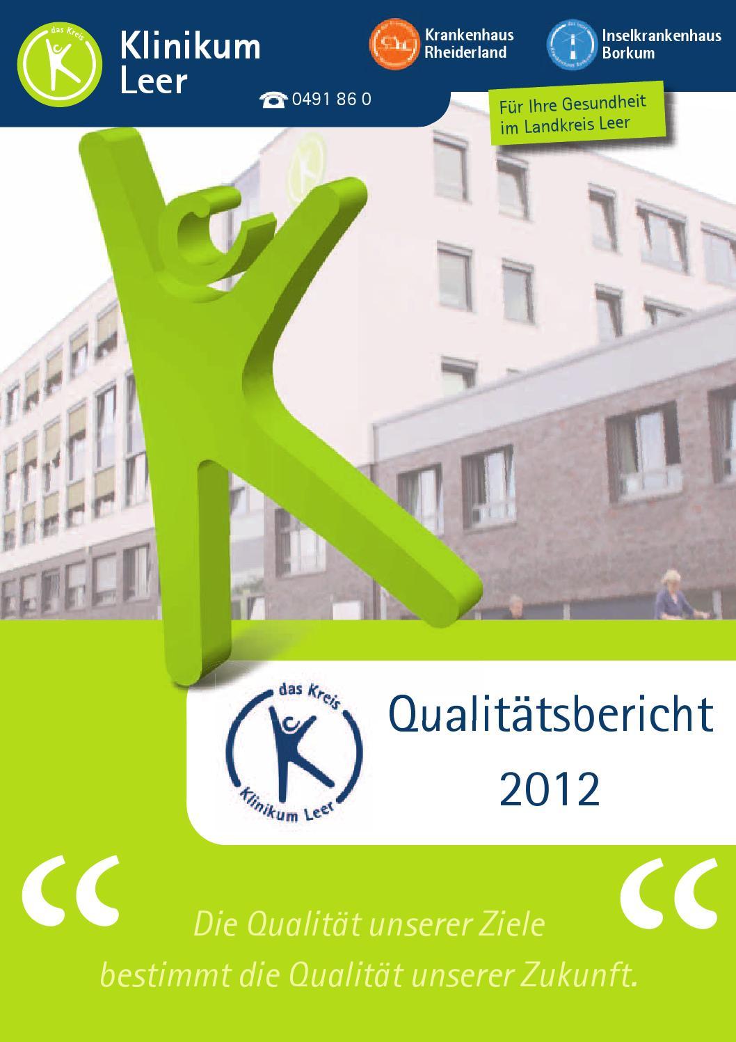 Klinikum Leer gGmbH Qualitätsbericht 2012 by klinikumleer - issuu