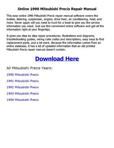 1990 mitsubishi precis repair manual online by sayma issuu Engine Diagram Isuzu Rodeo online 1990 mitsubishi precis repair manual this easy online 1990 mitsubishi precis repair manual software covers the brakes, steering, suspension, engine,