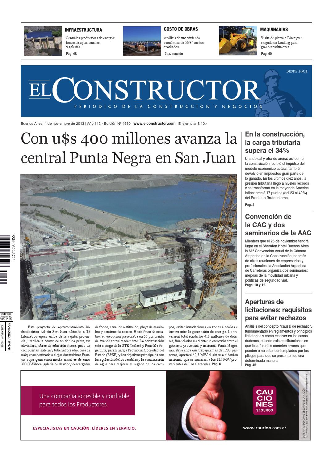El Constructor 04/11/2013 - Nº 4960 - Año 112 by ELCO Editores - issuu